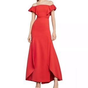 Bcbg off the shoulders dress gown prom size 8